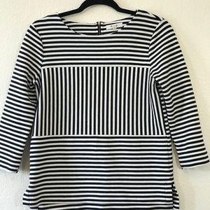 Madewell Sz S Black & White 3/4 Sleeve Tunic 1417